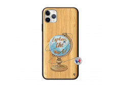 Coque iPhone 11 PRO MAX Globe Trotter Bois Bamboo