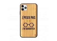 Coque iPhone 11 PRO MAX J Peux Pas J Ai Quidditch Bois Bamboo