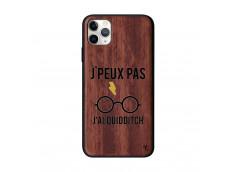 Coque iPhone 11 PRO MAX J Peux Pas J Ai Quidditch Bois Walnut
