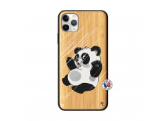Coque iPhone 11 PRO MAX Panda Impact Bois Bamboo