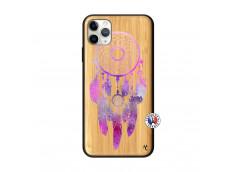 Coque iPhone 11 PRO MAX Purple Dreamcatcher Bois Bamboo