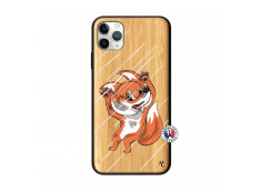 Coque iPhone 11 PRO MAX Fox Impact Bois Bamboo