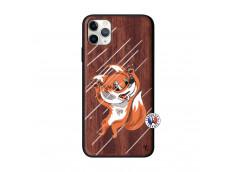 Coque iPhone 11 PRO MAX Fox Impact Bois Walnut