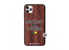 Coque iPhone 11 PRO MAX Rien A Foot Allez Le Senegal Bois Walnut