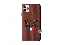 Coque iPhone 11 PRO MAX 100% Rugbyman Bois Walnut
