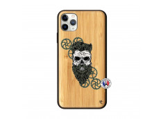 Coque iPhone 11 PRO MAX Skull Hipster Bois Bamboo