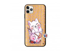 Coque iPhone 11 PRO MAX Smoothie Cat Bois Bamboo