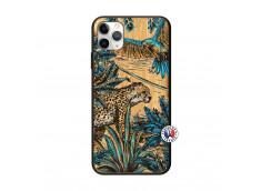 Coque iPhone 11 PRO MAX Leopard Jungle Bois Bamboo