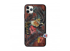 Coque iPhone 11 PRO MAX Leopard Tree Bois Walnut