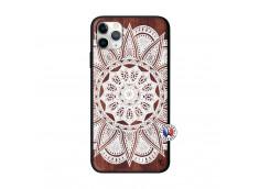 Coque iPhone 11 PRO MAX White Mandala Bois Walnut