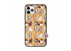 Coque iPhone 11 PRO Cat Pattern Bois Bamboo