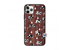 Coque iPhone 11 PRO Cow Pattern Bois Walnut
