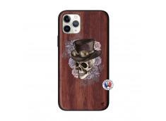 Coque iPhone 11 PRO Dandy Skull Bois Walnut