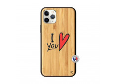 Coque iPhone 11 PRO I Love You Bois Bamboo