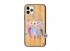 Coque iPhone 11 PRO Multicolor Watercolor Floral Dreamcatcher Bois Bamboo
