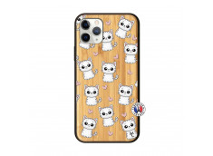 Coque iPhone 11 PRO Petits Chats Bois Bamboo