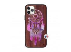 Coque iPhone 11 PRO Purple Dreamcatcher Bois Walnut