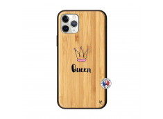 Coque iPhone 11 PRO Queen Bois Bamboo