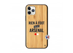Coque iPhone 11 PRO Rien A Foot Allez Arsenal Bois Bamboo