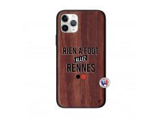 Coque iPhone 11 PRO Rien A Foot Allez Rennes Bois Walnut