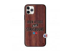 Coque iPhone 11 PRO Rien A Foot Allez Strasbourg Bois Walnut