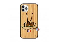 Coque iPhone 11 PRO 100 % Rugbyman Entre les Poteaux Bois Bamboo