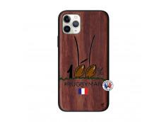 Coque iPhone 11 PRO 100 % Rugbyman Entre les Poteaux Bois Walnut