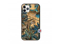Coque iPhone 11 PRO Leopard Jungle Bois Bamboo
