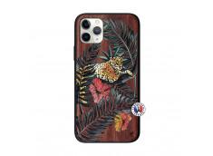 Coque iPhone 11 PRO Leopard Tree Bois Walnut