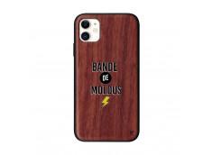 Coque iPhone 11 Bande De Moldus Bois Walnut