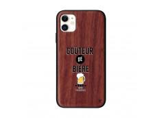 Coque iPhone 11 Goûteur de Bière Bois Walnut