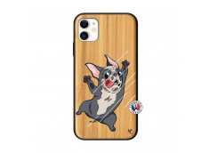 Coque iPhone 11 Dog Impact Bois Bamboo