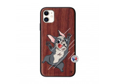 Coque iPhone 11 Dog Impact Bois Walnut
