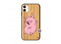 Coque iPhone 11 Pig Impact Bois Bamboo