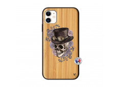 Coque iPhone 11 Dandy Skull Bois Bamboo