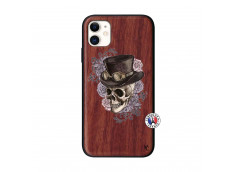 Coque iPhone 11 Dandy Skull Bois Walnut
