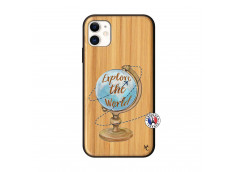 Coque iPhone 11 Globe Trotter Bois Bamboo