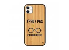 Coque iPhone 11 J Peux Pas J Ai Quidditch Bois Bamboo