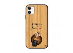 Coque iPhone 11 J Peux Pas J Ai Soif Bois Bamboo