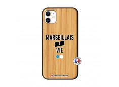Coque iPhone 11 Marseillais à Vie Bois Bamboo