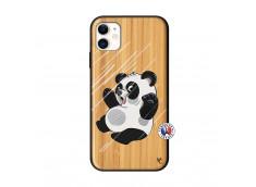 Coque iPhone 11 Panda Impact Bois Bamboo
