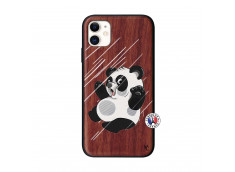 Coque iPhone 11 Panda Impact Bois Walnut
