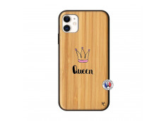 Coque iPhone 11 Queen Bois Bamboo