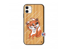 Coque iPhone 11 Fox Impact Bois Bamboo