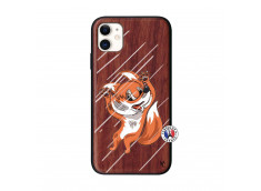Coque iPhone 11 Fox Impact Bois Walnut