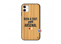 Coque iPhone 11 Rien A Foot Allez Arsenal Bois Bamboo