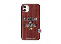 Coque iPhone 11 Rien A Foot Allez Le Senegal Bois Walnut