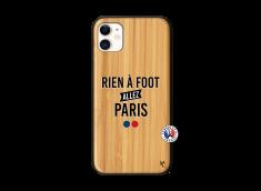 Coque iPhone 11 Rien A Foot Allez Paris Bois Bamboo