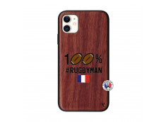 Coque iPhone 11 100% Rugbyman Bois Walnut