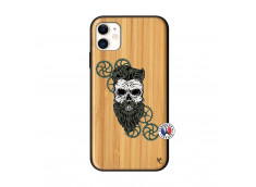 Coque iPhone 11 Skull Hipster Bois Bamboo